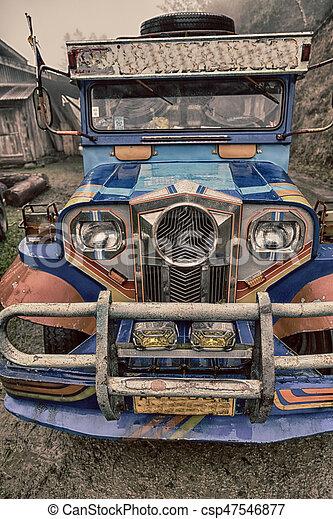 autobús, philipphines, asia, típico - csp47546877