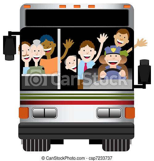 Transporte de autobús - csp7233737