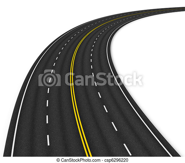 Autobahn isolated on white - csp6296220