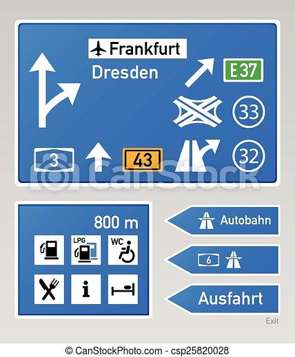Autobahn signs - csp25820028