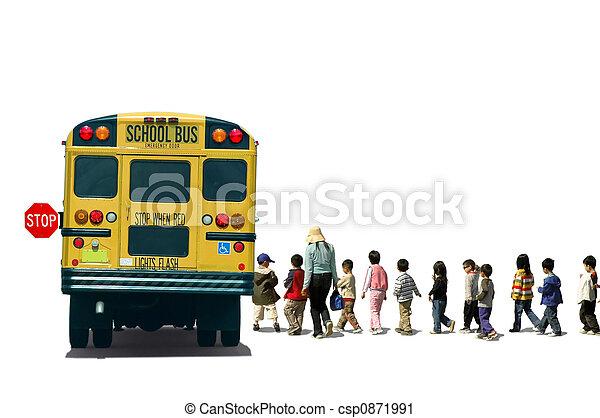 autobus, école - csp0871991