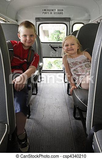 autobus, écoliers, séance - csp4340210