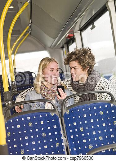 autobus, couple - csp7966500