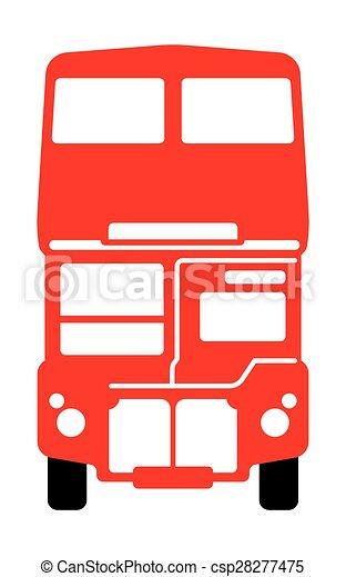 autobus, double-decker, londra - csp28277475