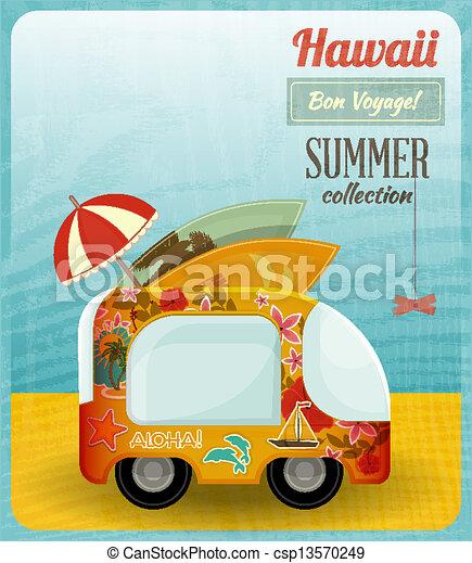 autobus, hawai, scheda - csp13570249