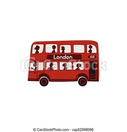 Autobus londra inglese double decker cartone animato rosso