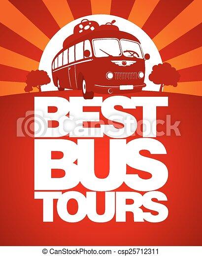 autobus, tour, conception, template., mieux - csp25712311