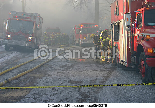 autocarri incendio, pericolo - csp0540379