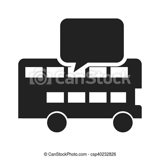 autocarro, londres, aprendizagem, ícone - csp40232826