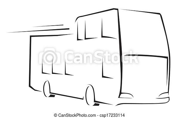 autocarro, símbolo, vetorial, ilustração - csp17233114
