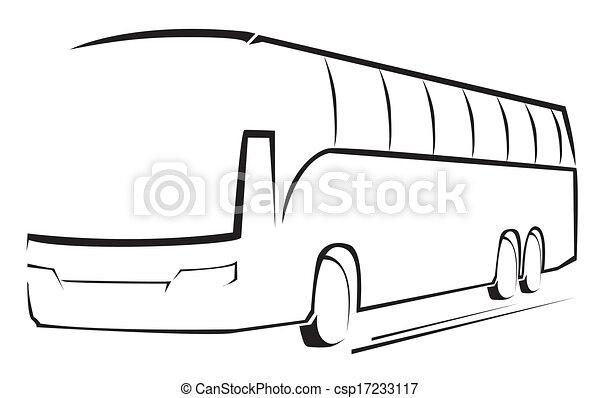 autocarro, símbolo, vetorial, ilustração - csp17233117