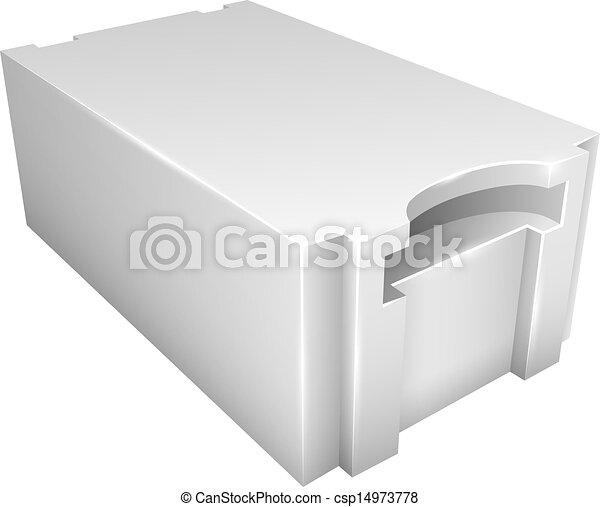 autoclaved, béton, aerated, bloc, léger - csp14973778