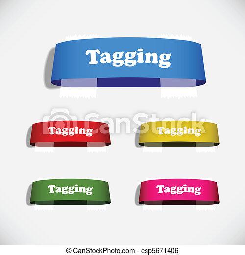 autocollant, étiquette, plâtre, ombre, étiquette - csp5671406