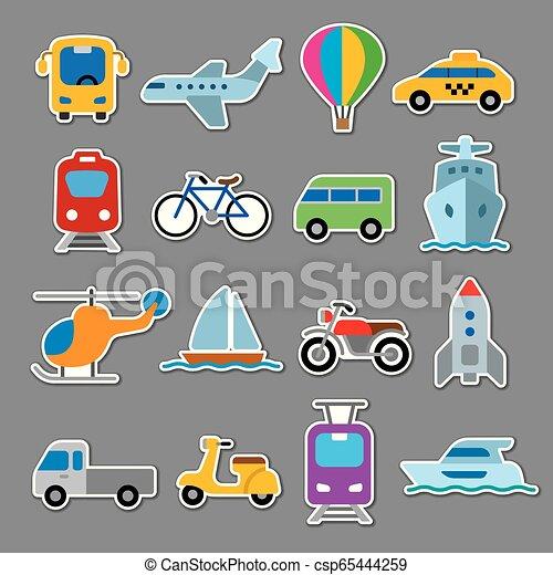 autocollants, transport - csp65444259