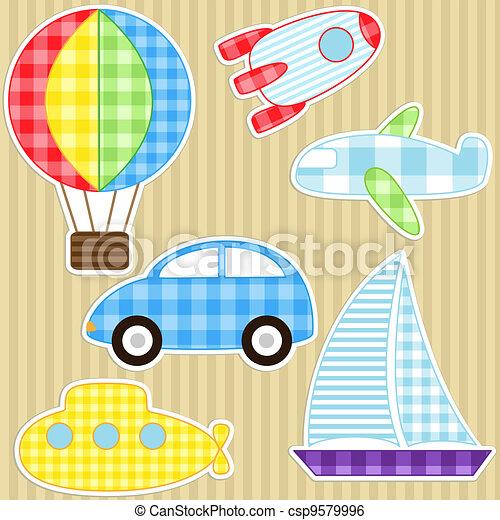 autocollants, transport - csp9579996