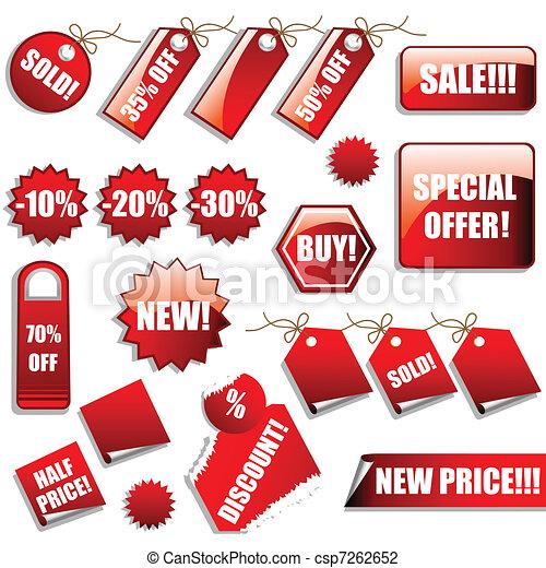 autocollants, ventes, étiquettes - csp7262652
