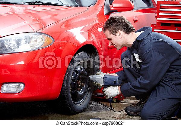 automático, tire., mecânico, mudança - csp7908621