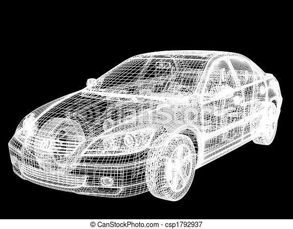 automóvil, armazón - csp1792937