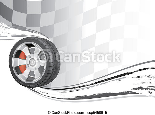 automóvil, carrera - csp5458915