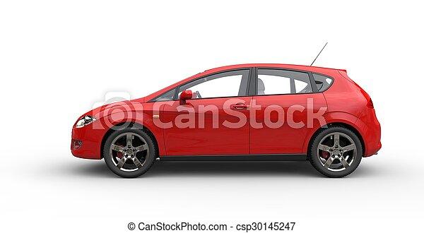 Coche compacto rojo - csp30145247