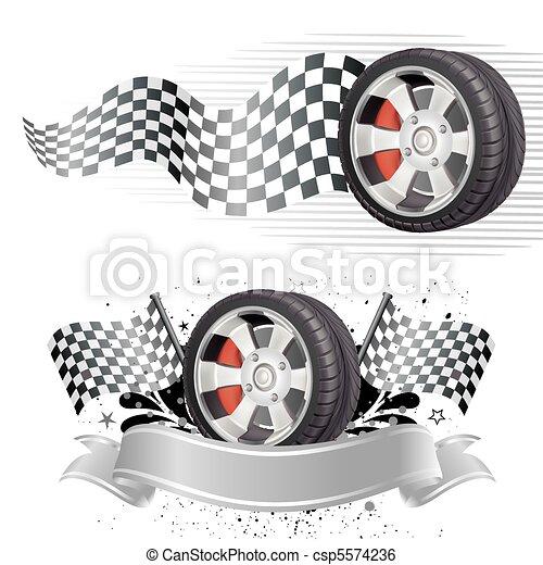 Un elemento de carrera automóvil - csp5574236