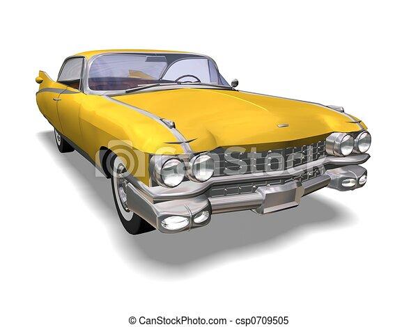 automóvil, retro - csp0709505
