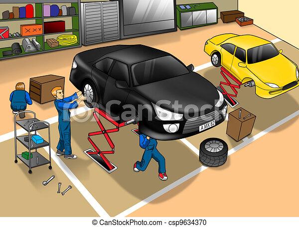Reparación de automóviles - csp9634370