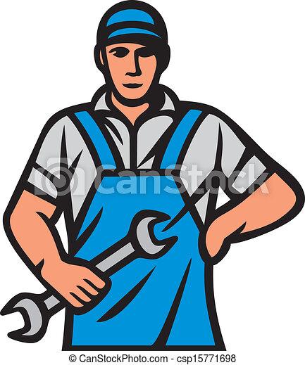 Mecánica de coches, trabajador profesional - csp15771698