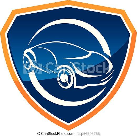 Vector de diseño de placas de diseño del logo del auto - csp56508258
