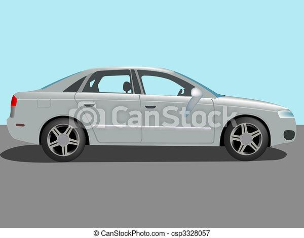 automóvil, vector - csp3328057