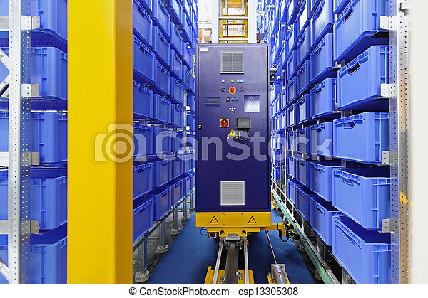 Automated storage warehouse - csp13305308