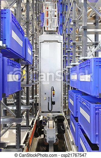 Automated warehouse storage - csp21767547