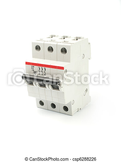 automatic circuit breaker isolated on a white background rh canstockphoto com