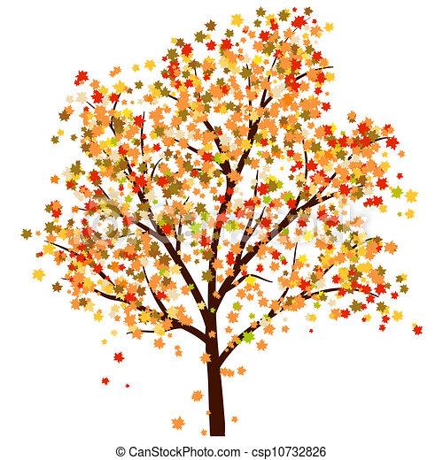Automne rable rables illustration arbre leaves automne vecteur tomber - Dessin d arbre en automne ...