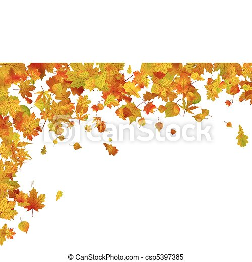 automne, 8, leaves., fond, eps - csp5397385