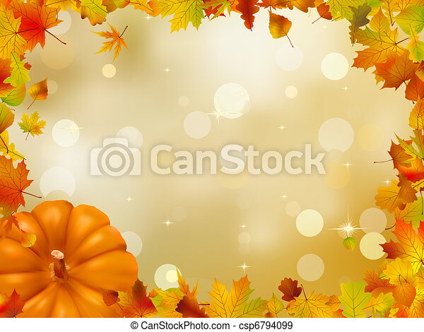 automne, 8, potirons, leaves., eps - csp6794099