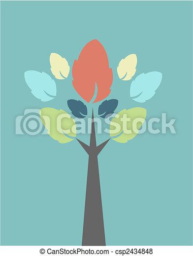 automne, arbre - csp2434848