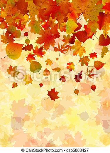 automne, arrière-plan., feuilles, eps, 8 - csp5883427