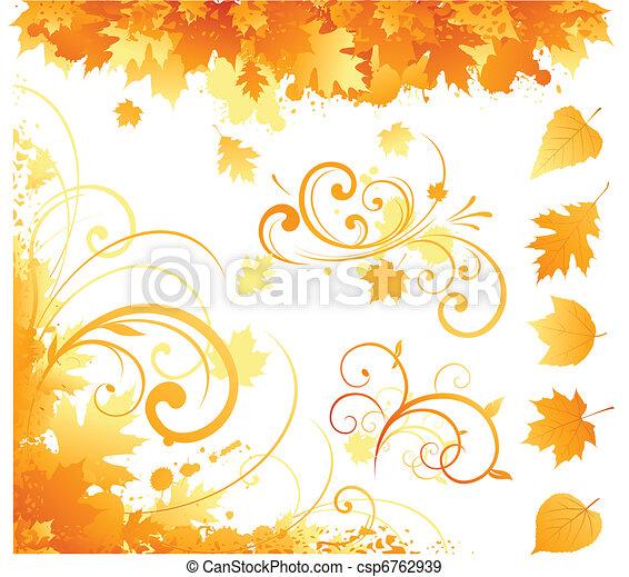 automne, articles - csp6762939