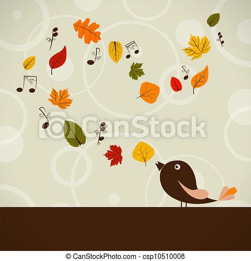 automne, chanson - csp10510008