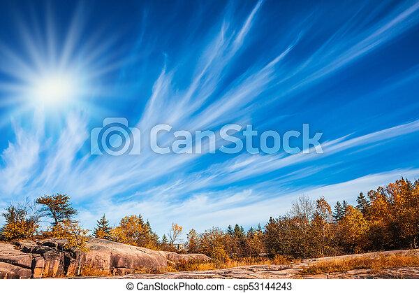 automne, chaud, jour ensoleillé - csp53144243