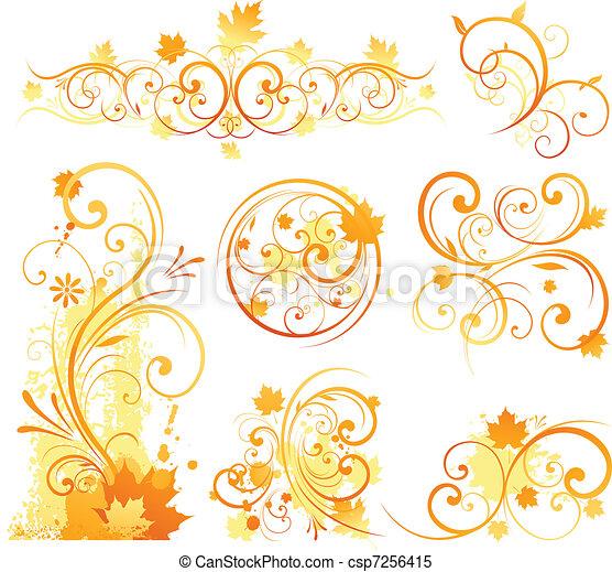 automne, concevoir élément - csp7256415