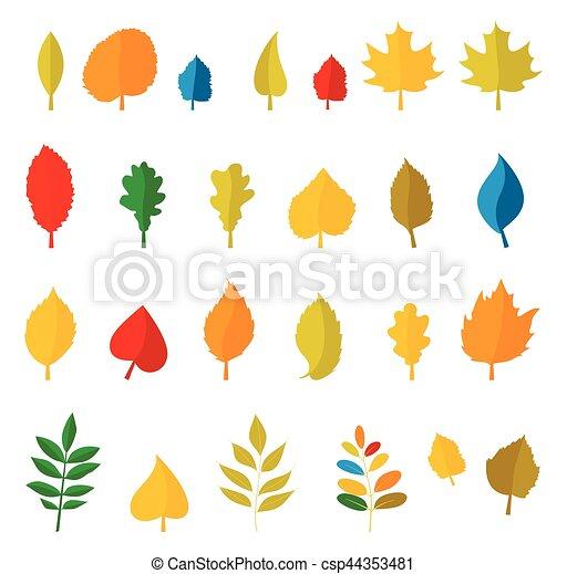 automne, ensemble, leaves., coloré - csp44353481