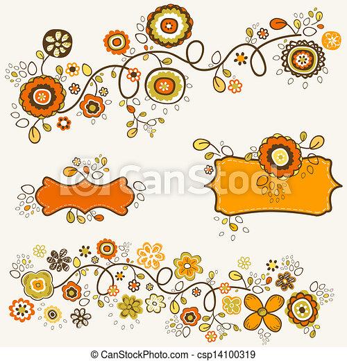 automne, fleurs - csp14100319
