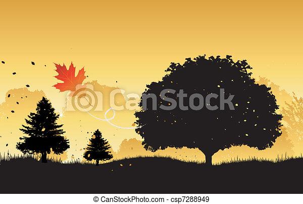 automne, fond - csp7288949