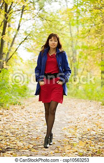 automne, girl - csp10563253