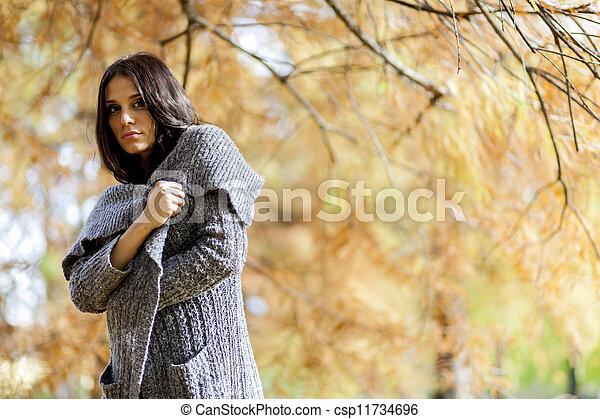 automne, girl - csp11734696