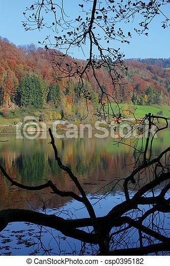 automne, lac - csp0395182