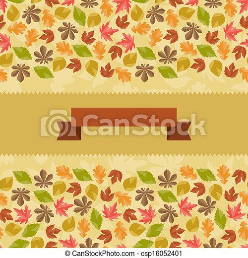 automne, modèle, seamless, leaves. - csp16052401