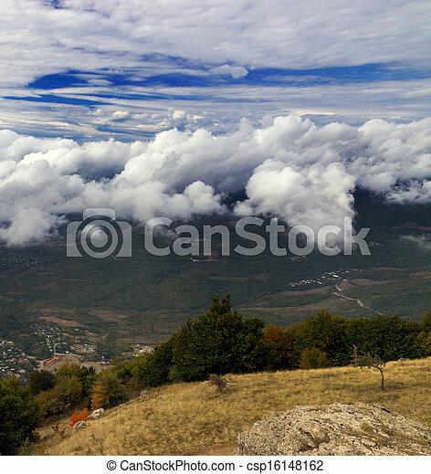 automne, montagne, beauté, saison - csp16148162